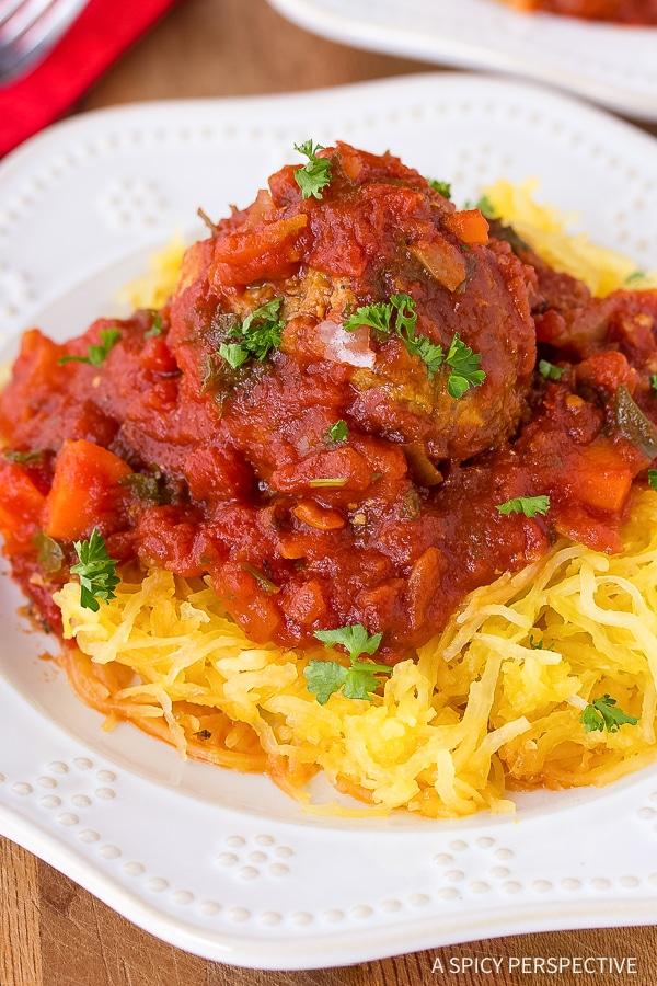 Low Carb Spaghetti and Meatballs Recipe