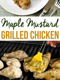 Grilled Maple Mustard Chicken Recipe | ASpicyPerspective.com