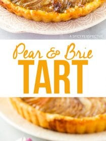 Simple Dazzling Pear and Brie Tart Recipe