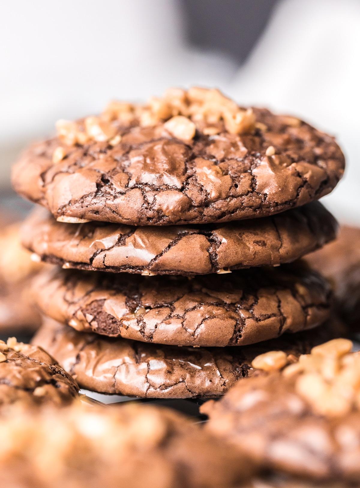 The Best Brownie Cookies with Toffee