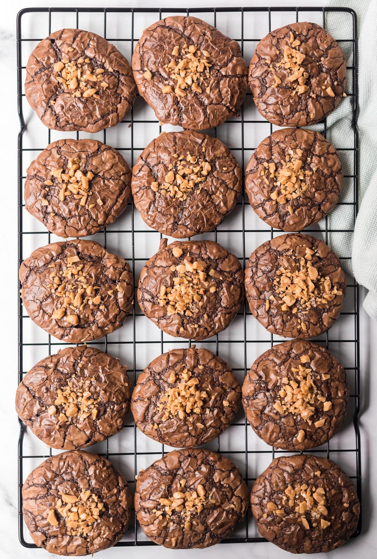 Amazing Brownie Cookies with Toffee Bits Recipe #ASpicyPerspective #brownies #cookies #toffee #holiday #cookieexchange