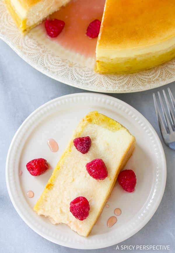 Silky Yogurt Cheesecake with Orange Shortbread Crust and Chambord Honey Drizzle Recipe