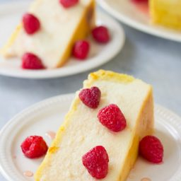 Yogurt Cheesecake with Orange Shortbread Crust and Chambord Honey Drizzle Recipe