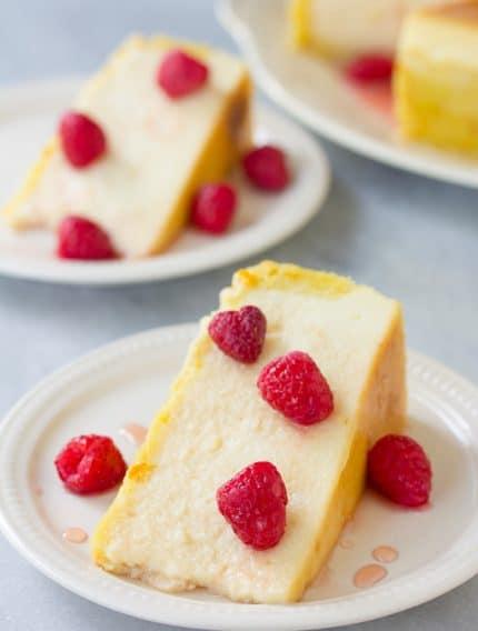 Yogurt Cheesecake with Orange Shortbread Crust and Chambord Honey Drizzle Recipe