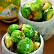 Amazing Brussel Sprouts with Bacon and Beer! #brusselssprouts