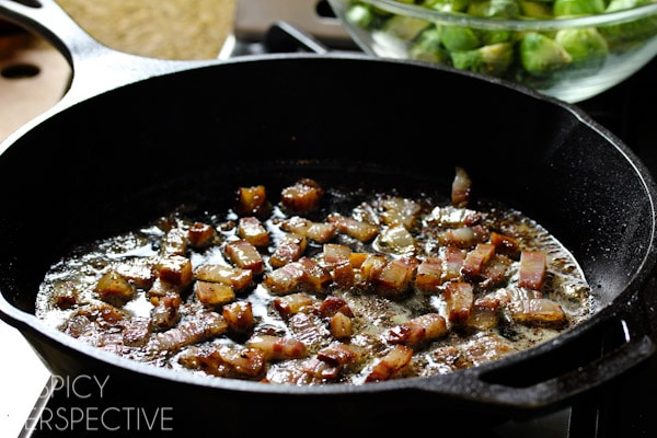 Making the Best Brussel Sprouts with Bacon and Beer! #brusselssprouts