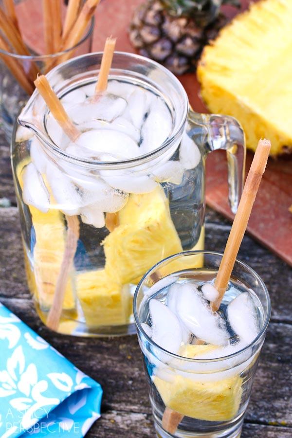 Easy Detox Pineapple Sugarcane Water #healthy