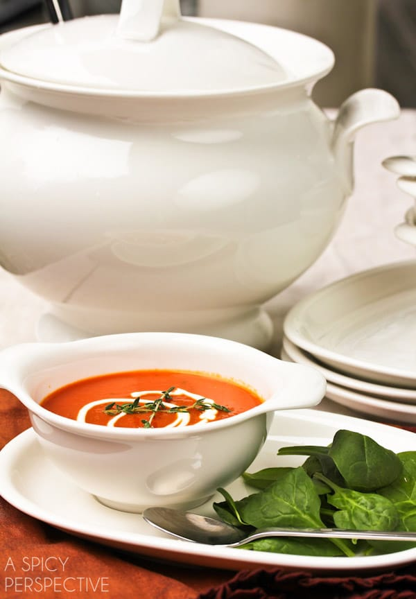 Silky Roasted Red Pepper Soup #healthy
