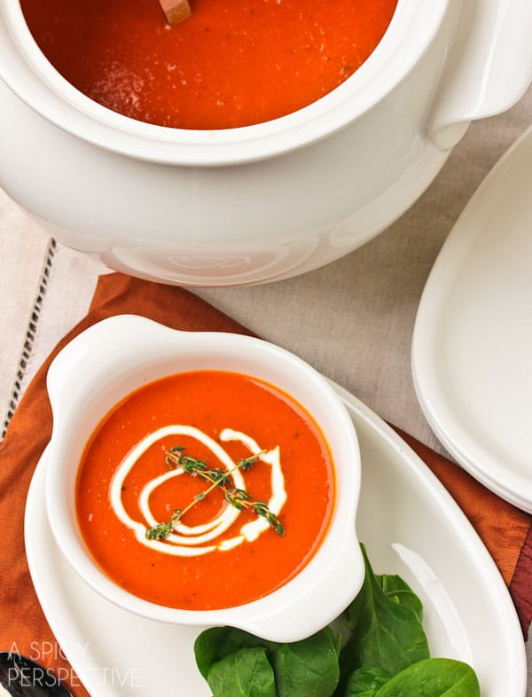 Roasted Red Pepper Soup - A Spicy Perspective