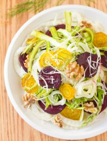Fennel Salad with Roasted Beets and Shaved Asparagus Recipe