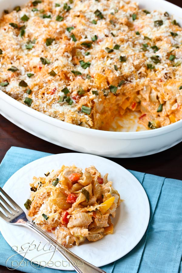 Amazing Buffalo Chicken Mac and Cheese