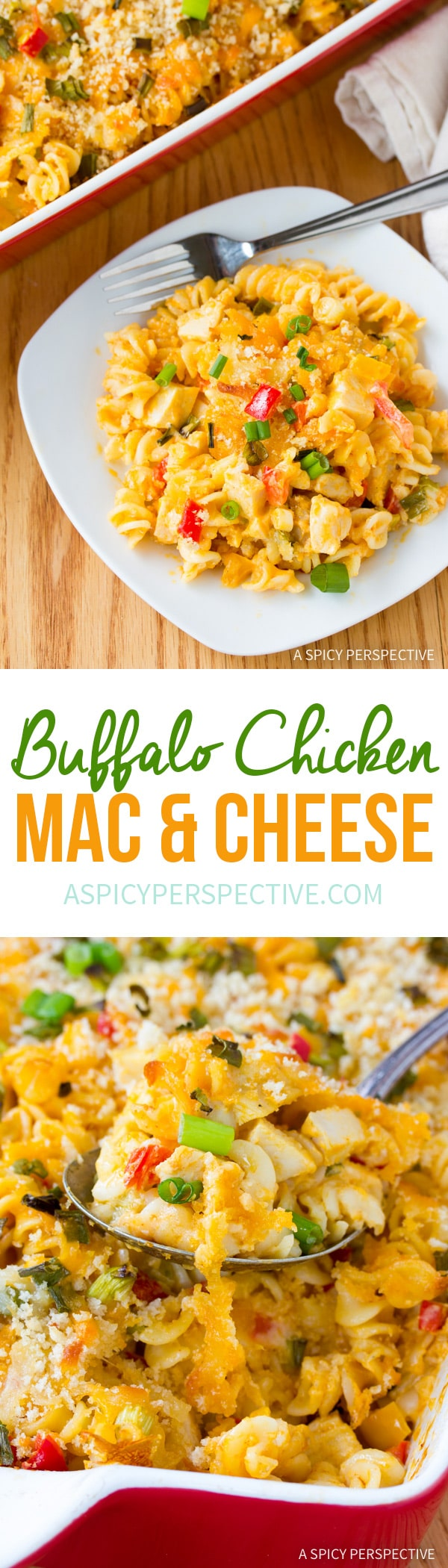 Amazing Buffalo Chicken Mac and Cheese Recipe #winner