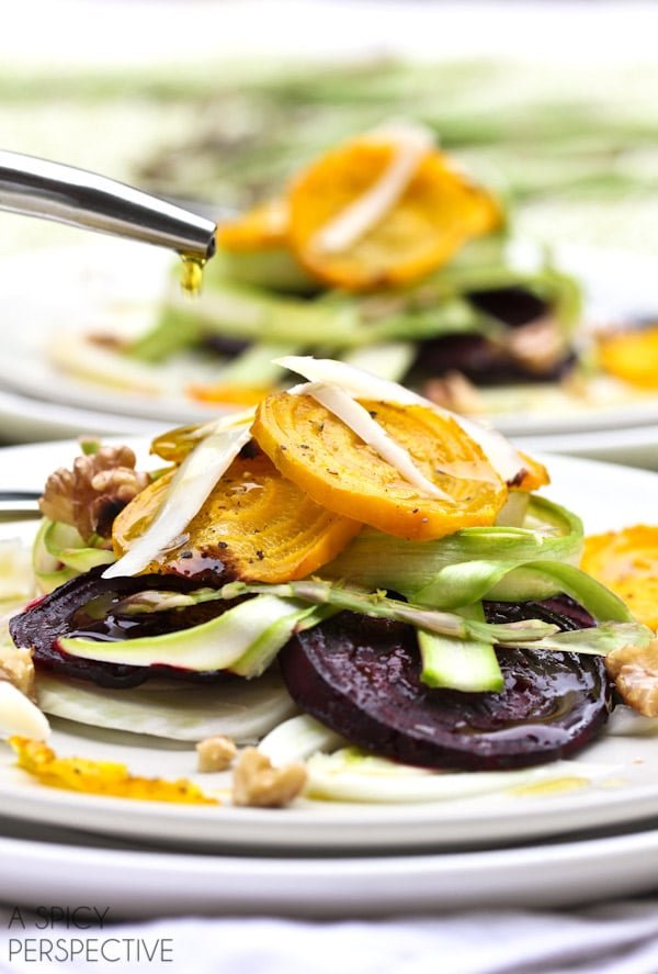 Best Fennel Salad with Roasted Beets and Shaved Asparagus
