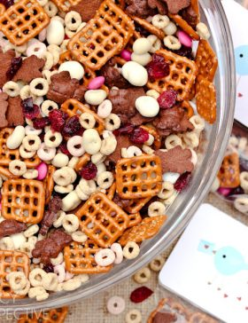 Homemade Trail Mix - Valentine Snack + Printable Tags!