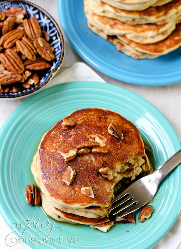 Best Pancakes Ever - Toffee Nut Pancakes