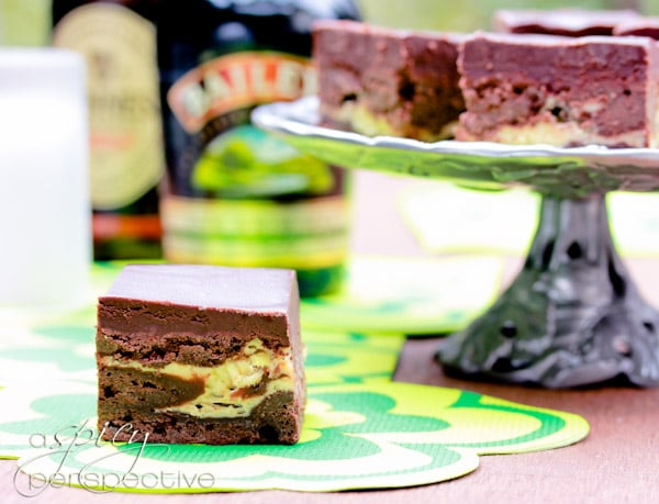 ... Irish Car Bomb Brownies pack the punch of a favorite Irish-inspired
