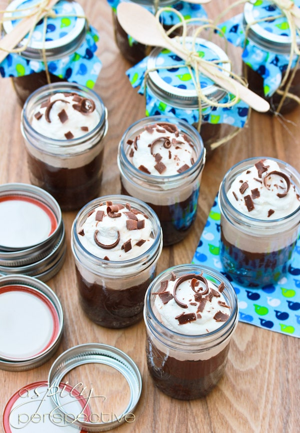 Chocolate Malt Brownie Parfait in a Jar