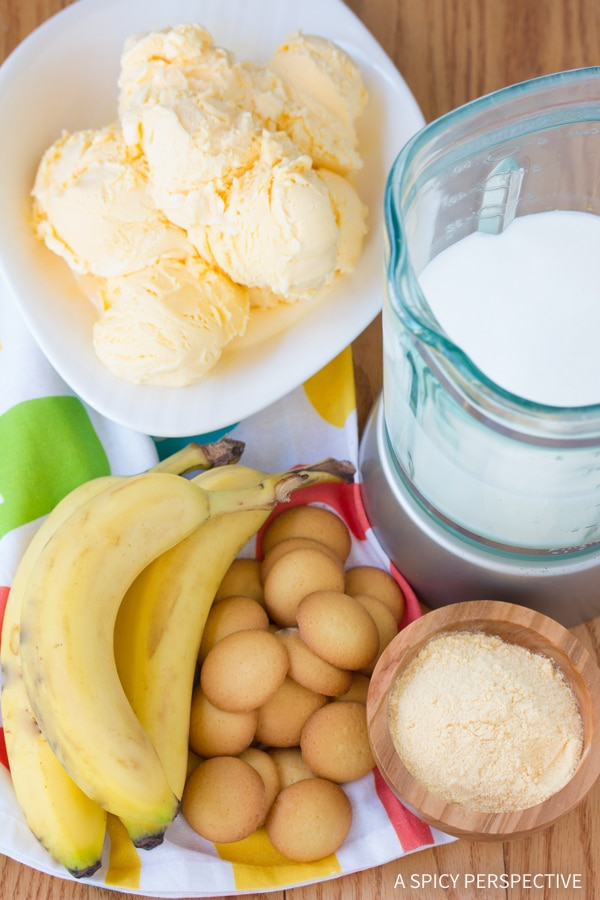 Making Banana Pudding Milkshake Recipe
