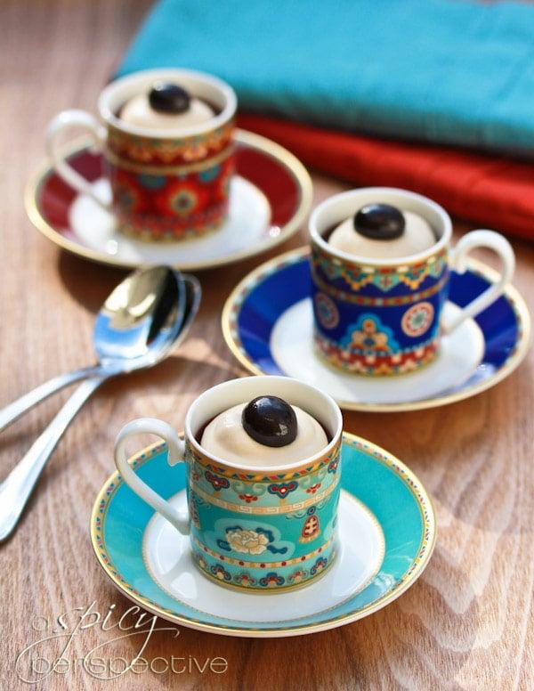 Chocolate Pots de Creme with Espresso Cream