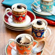 Chocolate Pots de Creme Recipe with Espresso Cream
