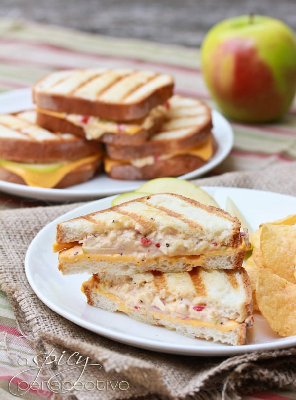 Perky Pimento Granny Smith Grilled Cheese Recipe