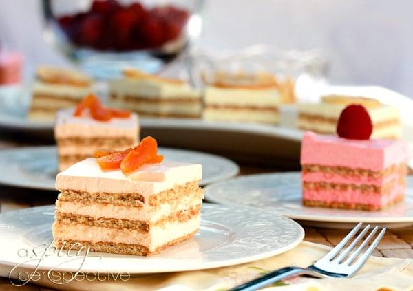 Simple Layered Jello Mousse Cake