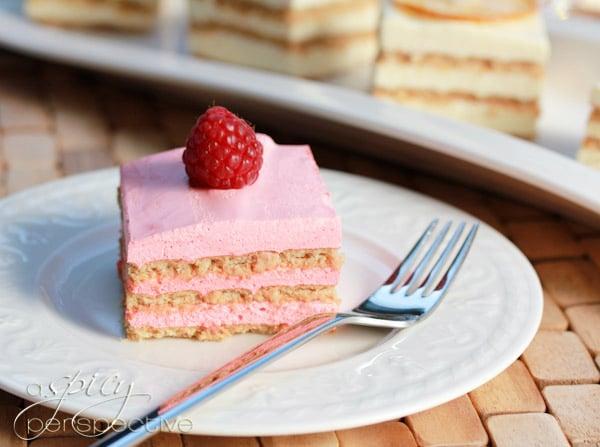 Pretty Layered Jello Mousse Cake