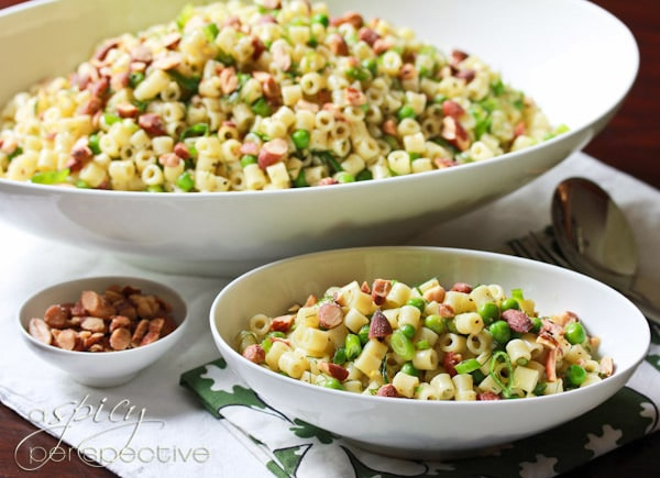 Easy Pasta with Peas Smoked Almonds and Dill