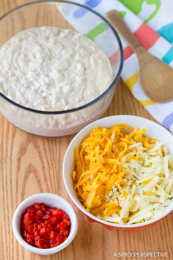 Making Perky Pimento Cheese Recipe