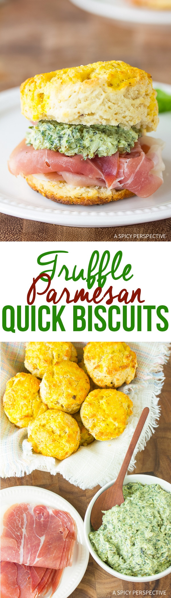 Easy Truffle Parmesan Quick Biscuit Recipe