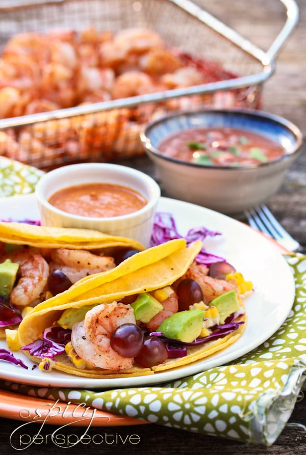 Grilled Shrimp Tacos Recipe with Ranchero Sauce