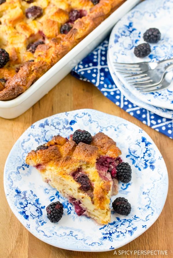 Perfect Blackberry Bread Pudding Recipe