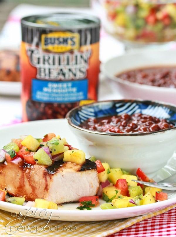 Fresh Pineapple Salsa with Pork Chops