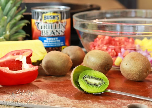 Spicy Perspective Grilled Pork Chops Recipe with Pineapple Salsa - A ...