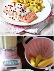 Roasted Salmon with Pink Peppercorn Sauce Recipe