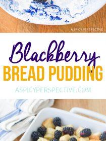 Fresh Blackberry Bread Pudding Recipe