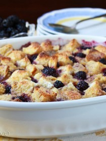 Blackberry Vanilla Bread Pudding Recipe