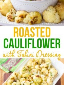Roasted Cauliflower with Tahini Dressing Recipe
