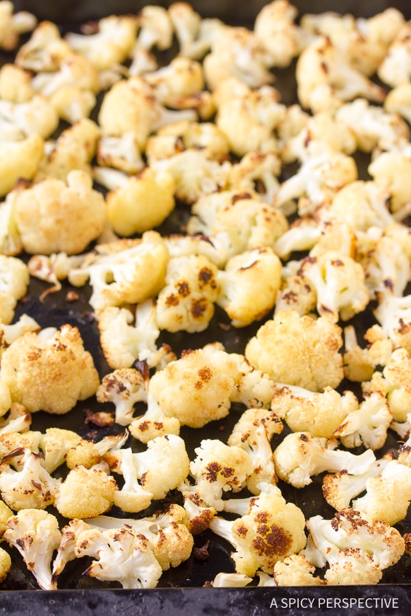 Making Roasted Cauliflower with Tahini Dressing Recipe