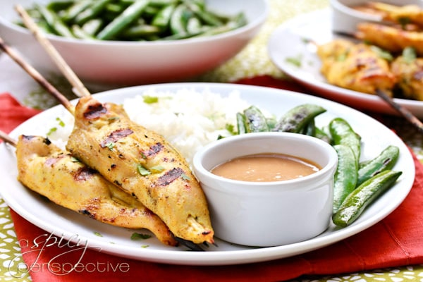 Thai Chicken Satay with Peanut Sauce is truly one of my favorite ...
