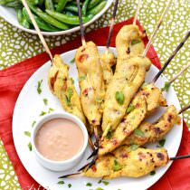Thai Chicken Satay with Peanut Dipping Sauce