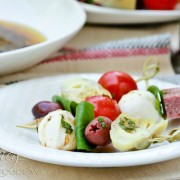 Antipasto Platter Skewers via aspicyperspective.com