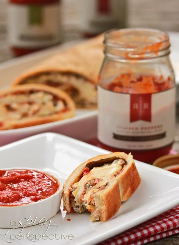 Homemade Stromboli Recipe @ ASpicyPerspective.com