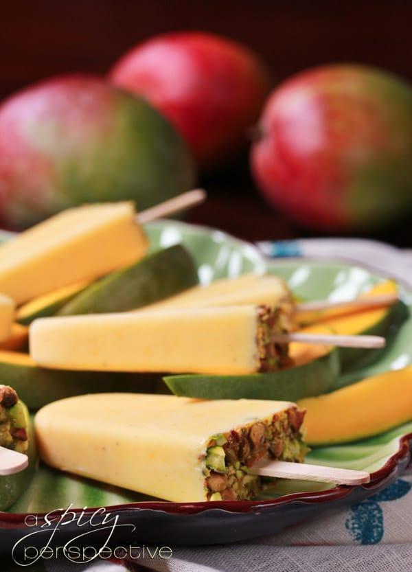 Mango Lassi Recipe for Popsicles  ~ ASpicyPerspective.com