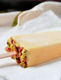 Homemade Popsicles from Mango Lassi ~ ASpicyPerspective.com