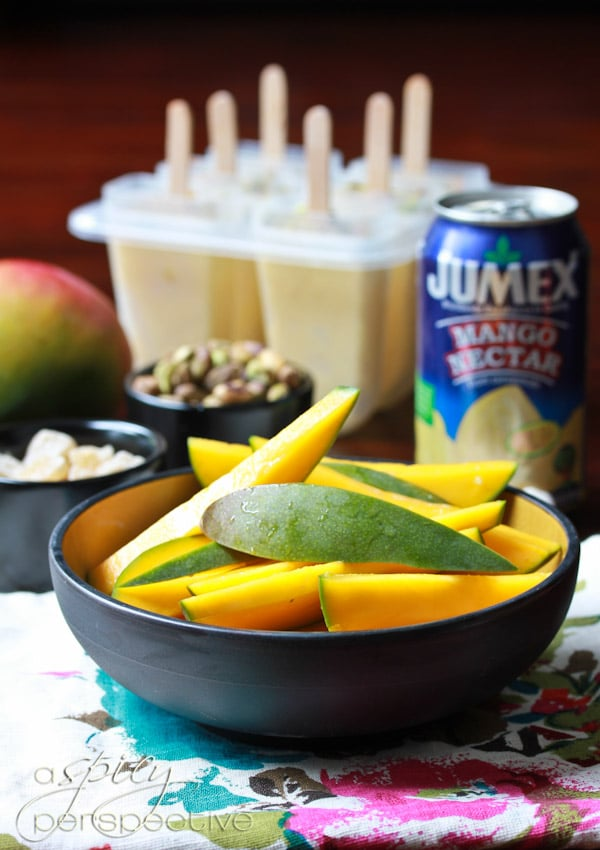 Homemade Popsicles with Mango Lassi Recipe ~ ASpicyPerspective.com