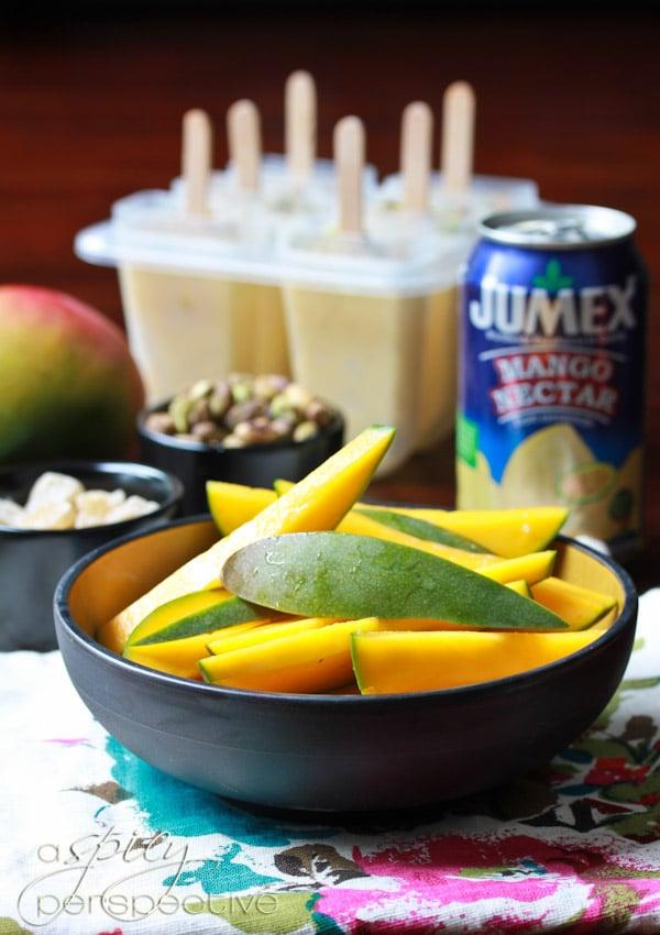 Homemade Popsicles with Mango Lassi Recipe ~ ASpicyPerspective.com