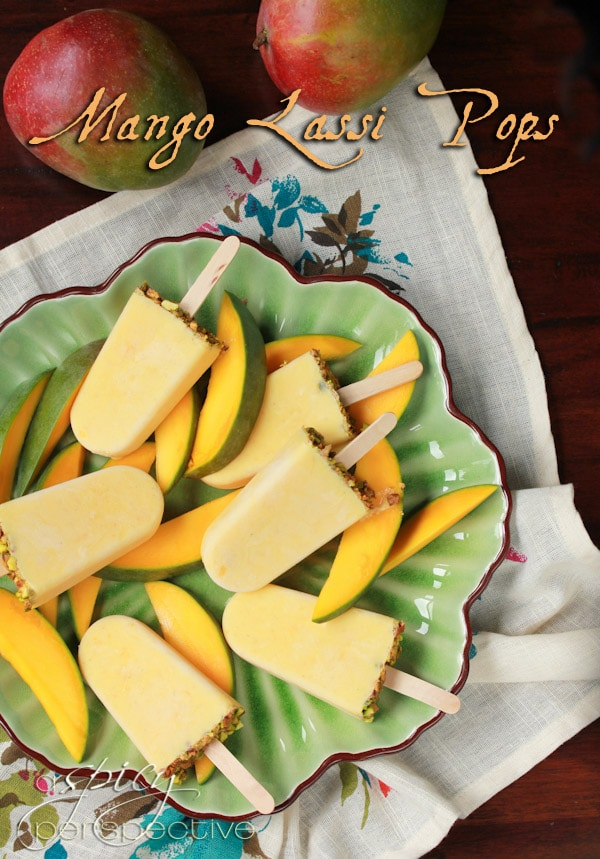Mango Lassi Homemade Popsicles - A Spicy Perspective