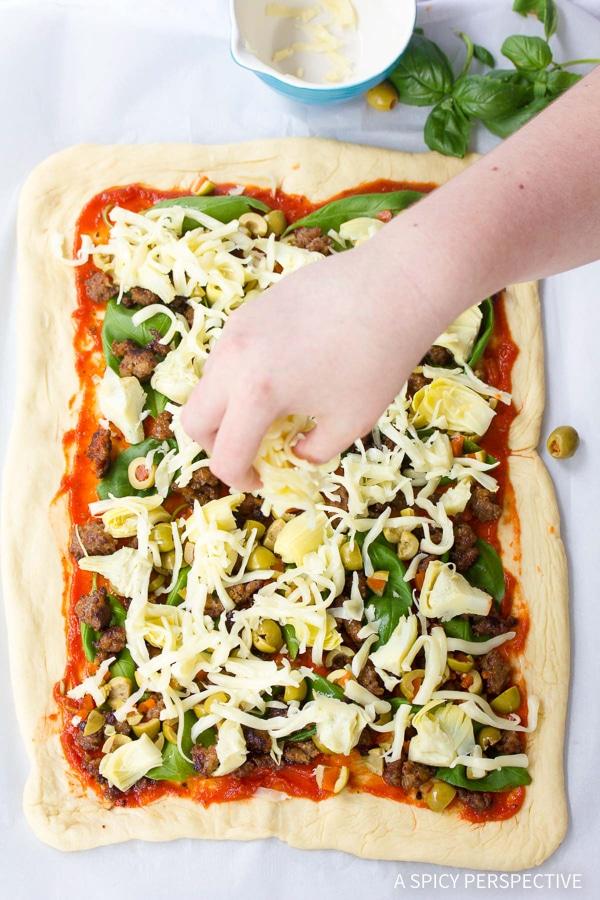 How to Make Stromboli #ASpicyPerspective #Stromboli #StromboliRecipe #ClassicStromboli #HowtoMakeStromboli #WhatisStromboli #Dinner #Italian