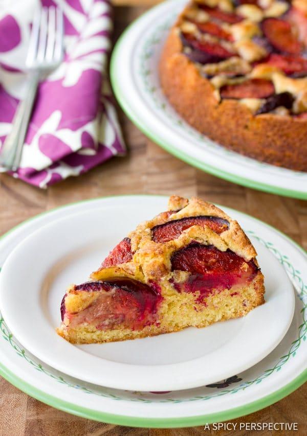 The Best Fresh Plum Cake Recipe | ASpicyPerspective.com